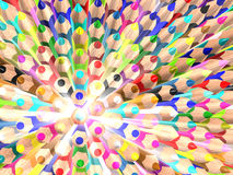 Radiate crayons. Abstract texture. 3d rendered image Stock Photo
