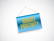 Radiate Positivity banner sign concept. Illustration design over white Royalty Free Stock Photo