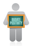 Radiate Positivity icon sign concept. Illustration design over white Royalty Free Stock Photos