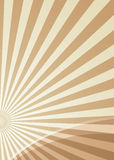 Radiate slice. Brown radiating background with copy space Stock Photos