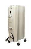 Radiateur électrique d'Oilly d'isolement sur le fond blanc Image libre de droits