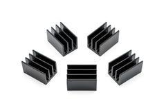 Radiateurs en aluminium noirs Images stock