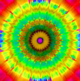 Radiating abstract design - like tie dye. Bright colours for jazzy background Royalty Free Stock Images