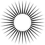 Radiating circular lines abstract monochrome symbol on white (Ca. N be used as a symbol or background Royalty Free Stock Images