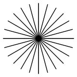 Radiating, radial lines. Starburst, sunburst shape. Ray, beam li. Nes merging, intersecting at center. Geometric circular abstract illustration. - Royalty free stock illustration
