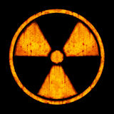 Radiation – round sign Stock Photography