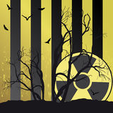 Radiation. Collection of vector illustrations of radiation royalty free illustration