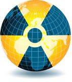 Radiation. Radioactivity alert for our world Royalty Free Stock Photo