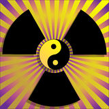 Radiation. Illustration of global radiation on a yellow background Stock Photos