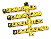 Radiation. Crossword on white background 3d render Royalty Free Stock Images