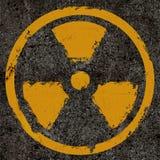 Radiation. Warning old radiation background texture Royalty Free Stock Photography