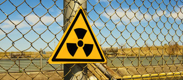 Radiation. Sign is prevented about the radiation Stock Photos