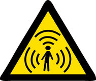 Radiation. Illustration of a radiation sign Royalty Free Stock Image