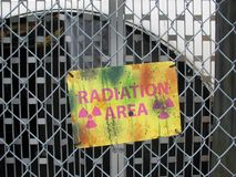 Radiation Area Warning Sign Stock Photography