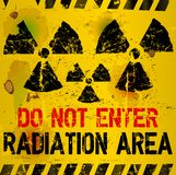 Radiation area warning Royalty Free Stock Photography