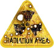 Radiation area warning Royalty Free Stock Image