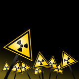 Radiation background Royalty Free Stock Photos