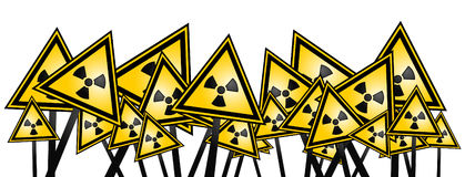 Radiation banner Royalty Free Stock Photos