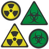 Radiation and bio hazard Stock Image