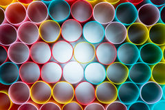 Radiation of Colorful straws Royalty Free Stock Photos