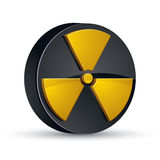 Radiation 3d vector icon. Stock Images