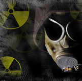 Radiation danger. With grunge background Stock Photography