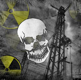 Radiation danger. With grunge background Stock Photo