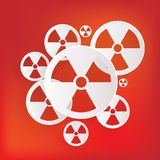 Radiation danger icon Royalty Free Stock Images