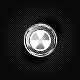 Radiation danger icon Royalty Free Stock Image