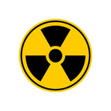 Radiation Danger sign. Caution chemical hazards. Warning sign of Royalty Free Stock Image