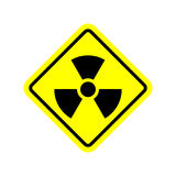 Radiation Danger sign. Caution chemical hazards. Warning sign of Royalty Free Stock Photos