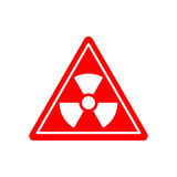 Radiation Danger sign. Caution chemical hazards. Warning sign of Royalty Free Stock Photo