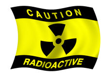 Radiation flag Royalty Free Stock Images