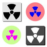 Radiation. flat vector icon stock illustration