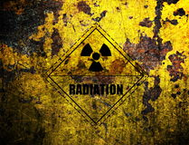 Radiation, grunge background Stock Photo