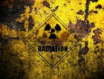 Radiation, grunge background Stock Photo