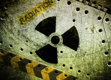 Radiation, grunge background Stock Images