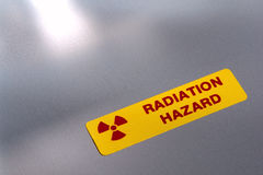 Radiation Hazard Danger Warning Label Royalty Free Stock Photo