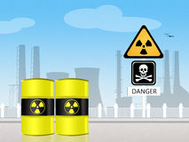 Radiation hazard Stock Photo