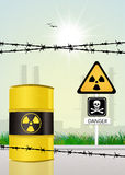 Radiation hazard risk Stock Photo
