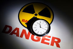 Radiation hazard sign stock image