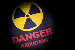 Radiation hazard sign royalty free stock photos