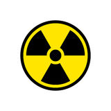 Radiation hazard sign symbol Royalty Free Stock Image