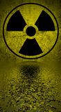 Radiation hazard symbol. Royalty Free Stock Photography