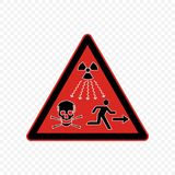 Warning sign Vector illustration. Radiation high level Warning sign. Hazard symbols Royalty Free Stock Image
