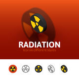 Radiation icon in different style Royalty Free Stock Photography