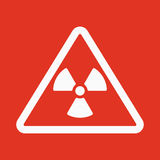The radiation icon. Radiation symbol. Flat Stock Photography