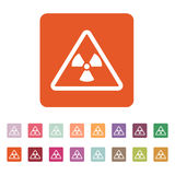 The radiation icon. Radiation symbol. Flat Stock Images