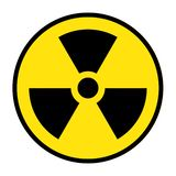 The radiation icon. Radiation symbol. Vector, radioactive vector royalty free illustration
