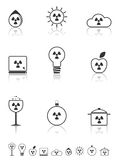 Radiation icons set. Stock Photography